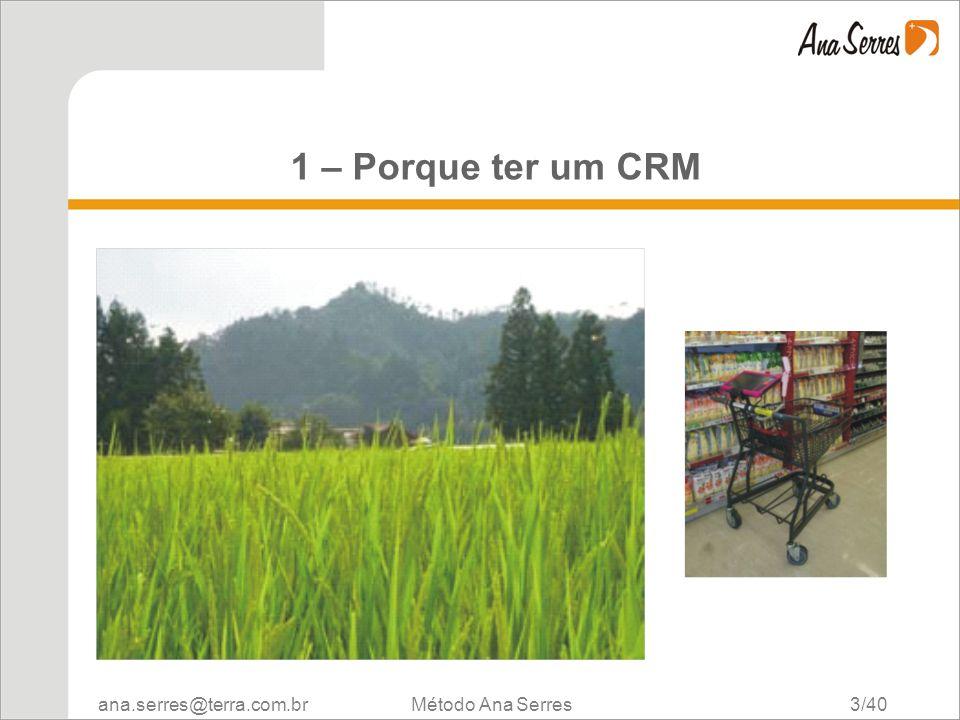 1 – Porque ter um CRM Método Ana Serres 3/40