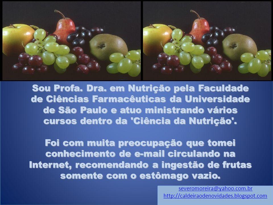 Sou Profa. Dra. em Nutrição pela Faculdade de Ciências Farmacêuticas da Universidade de São Paulo e atuo ministrando vários cursos dentro da Ciência da Nutrição .