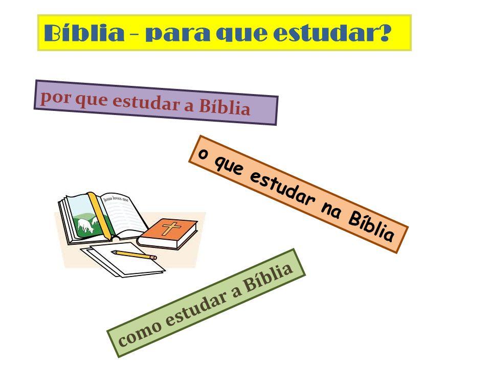 Bíblia - para que estudar