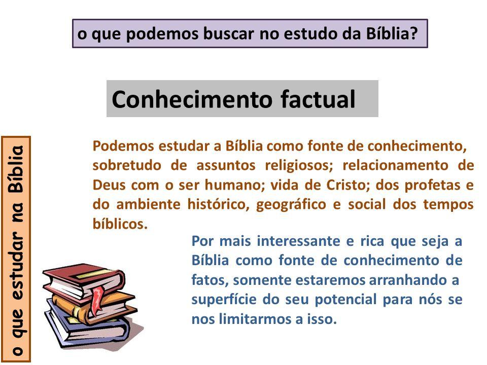 Conhecimento factual o que podemos buscar no estudo da Bíblia