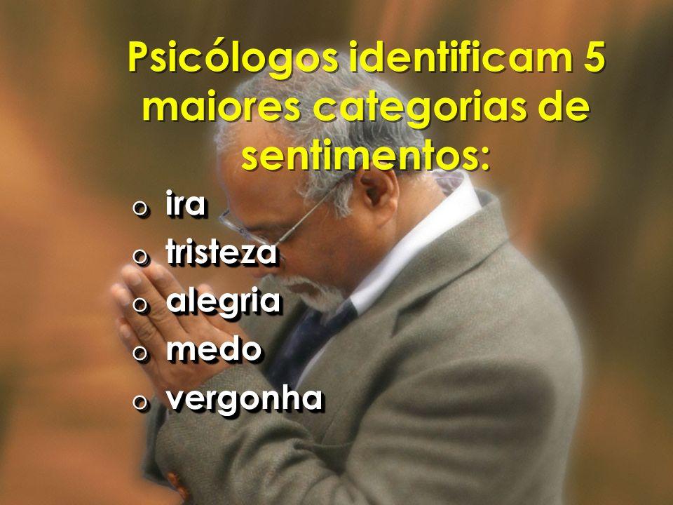 Psicólogos identificam 5 maiores categorias de sentimentos: