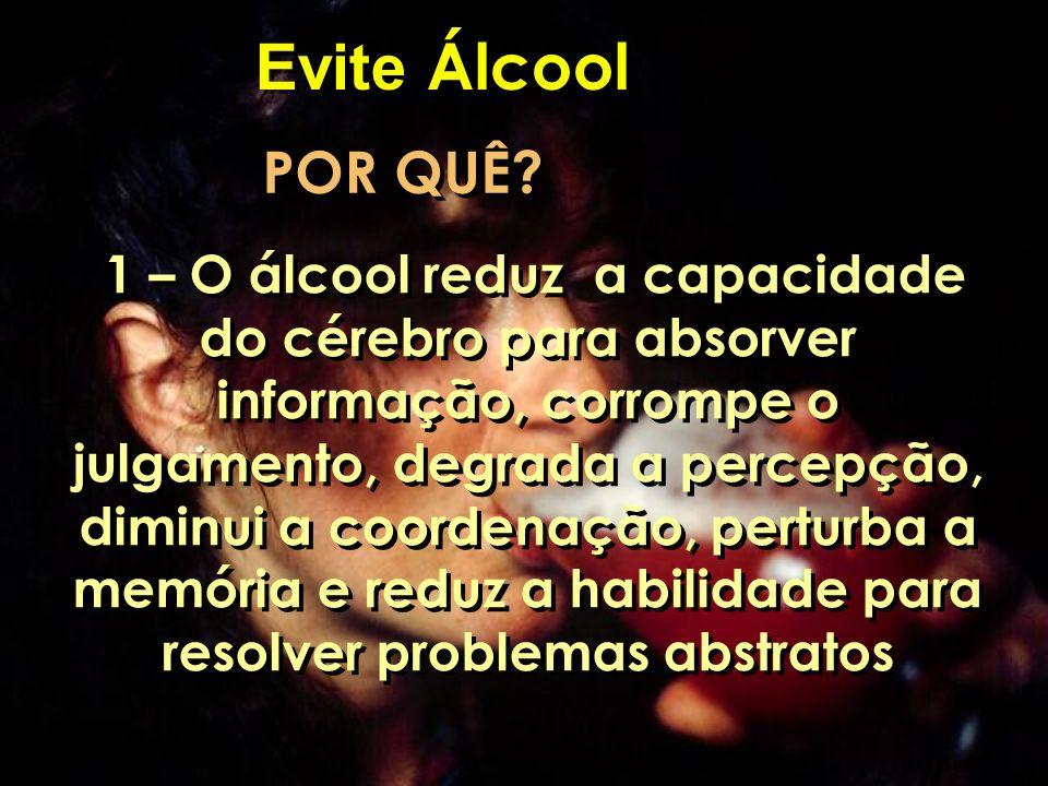 Evite Álcool POR QUÊ