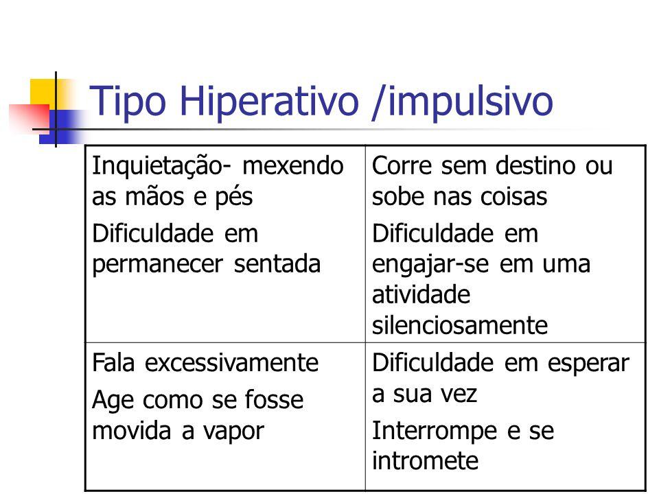 Tipo Hiperativo /impulsivo