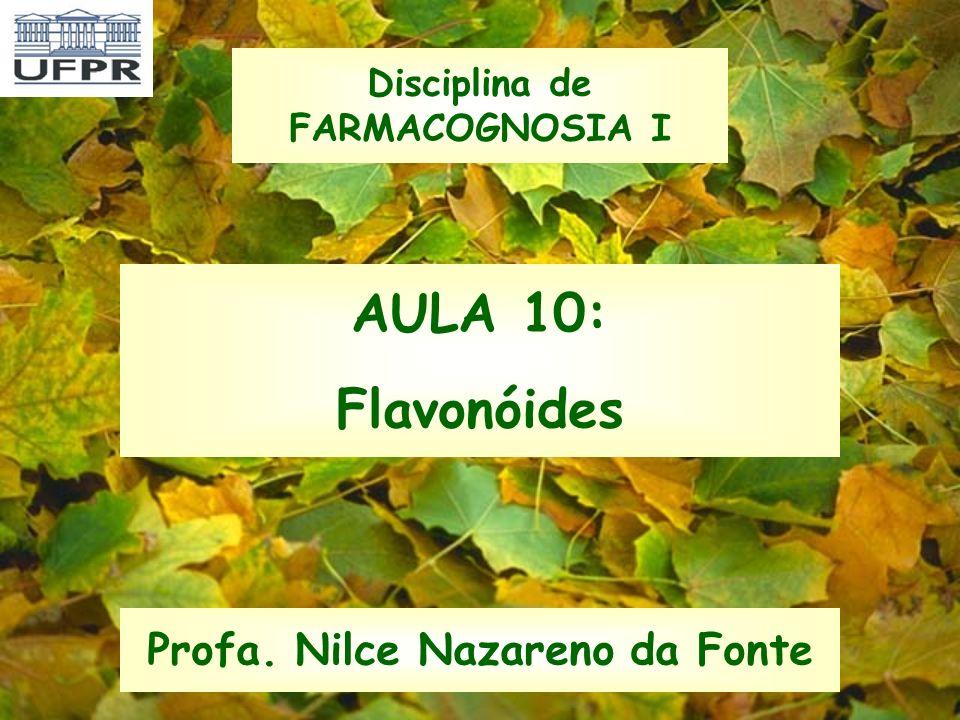 Disciplina de FARMACOGNOSIA I Profa. Nilce Nazareno da Fonte