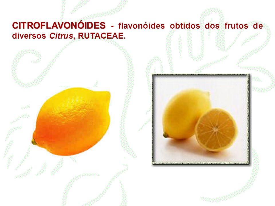 CITROFLAVONÓIDES - flavonóides obtidos dos frutos de diversos Citrus, RUTACEAE.