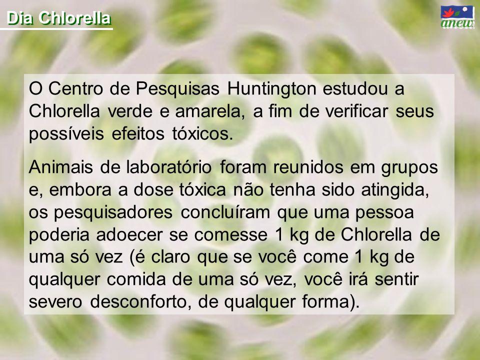 Dia Chlorella O Centro de Pesquisas Huntington estudou a Chlorella verde e amarela, a fim de verificar seus possíveis efeitos tóxicos.