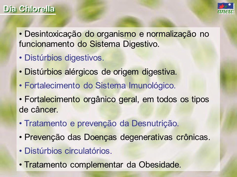 Dia Chlorella Desintoxicação do organismo e normalização no funcionamento do Sistema Digestivo. Distúrbios digestivos.