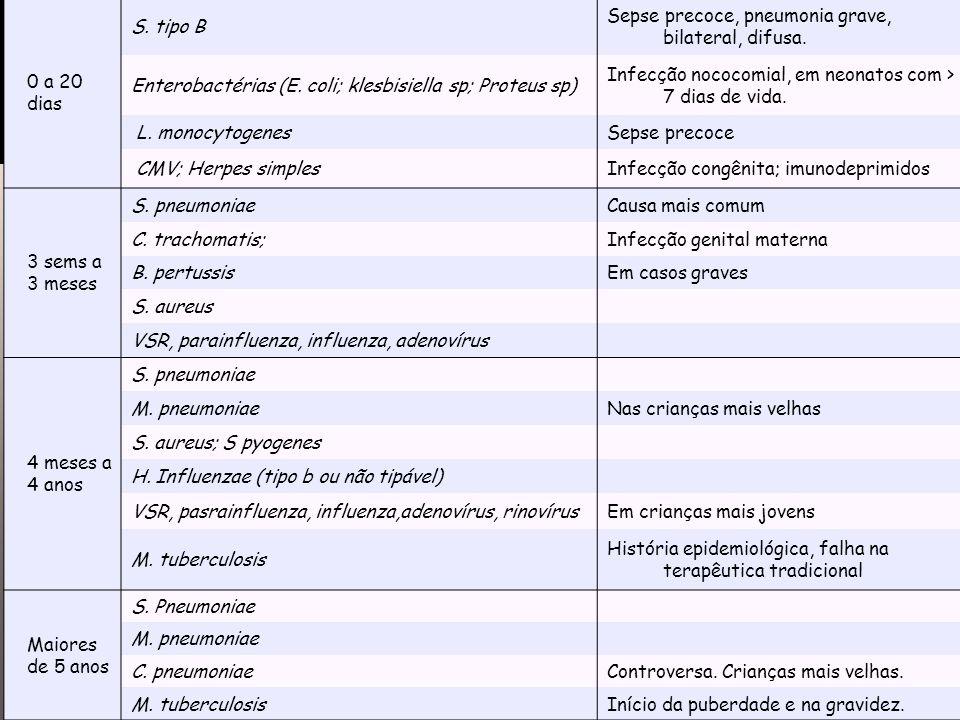 Etiologia 0 a 20 dias S. tipo B