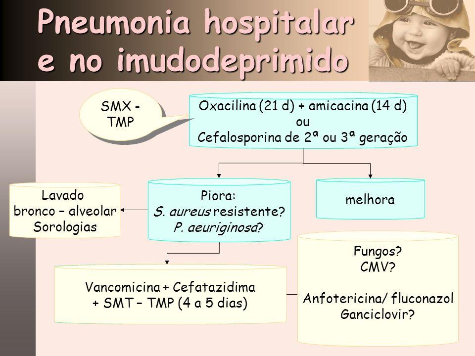 Pneumonia hospitalar e no imudodeprimido