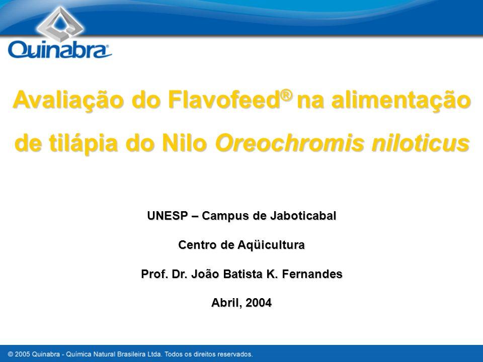 UNESP – Campus de Jaboticabal Prof. Dr. João Batista K. Fernandes