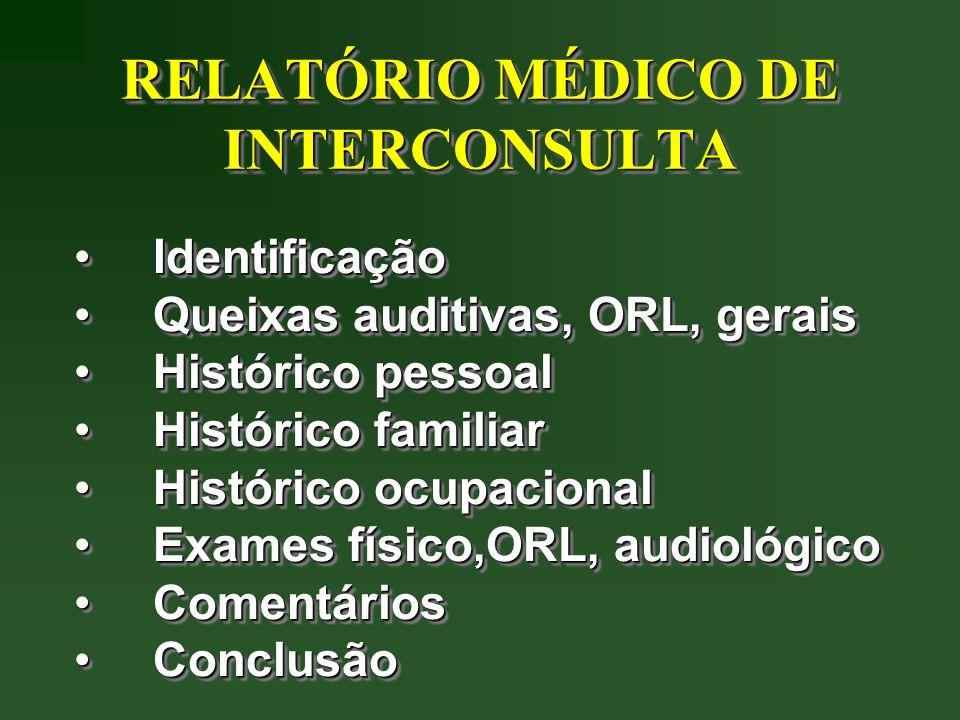 RELATÓRIO MÉDICO DE INTERCONSULTA