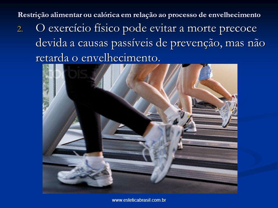 Restrição alimentar ou calórica em relação ao processo de envelhecimento