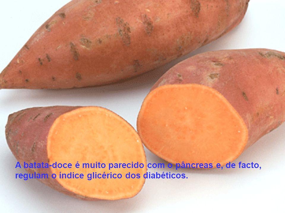 A batata-doce é muito parecido com o pâncreas e, de facto, regulam o índice glicérico dos diabéticos.