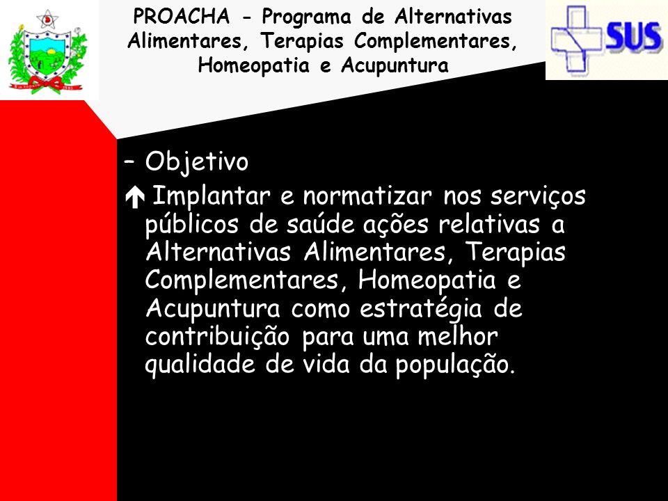 PROACHA - Programa de Alternativas Alimentares, Terapias Complementares, Homeopatia e Acupuntura