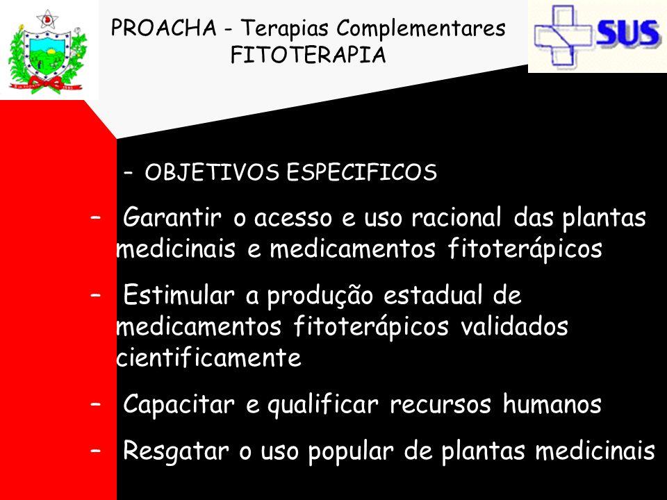 PROACHA - Terapias Complementares FITOTERAPIA