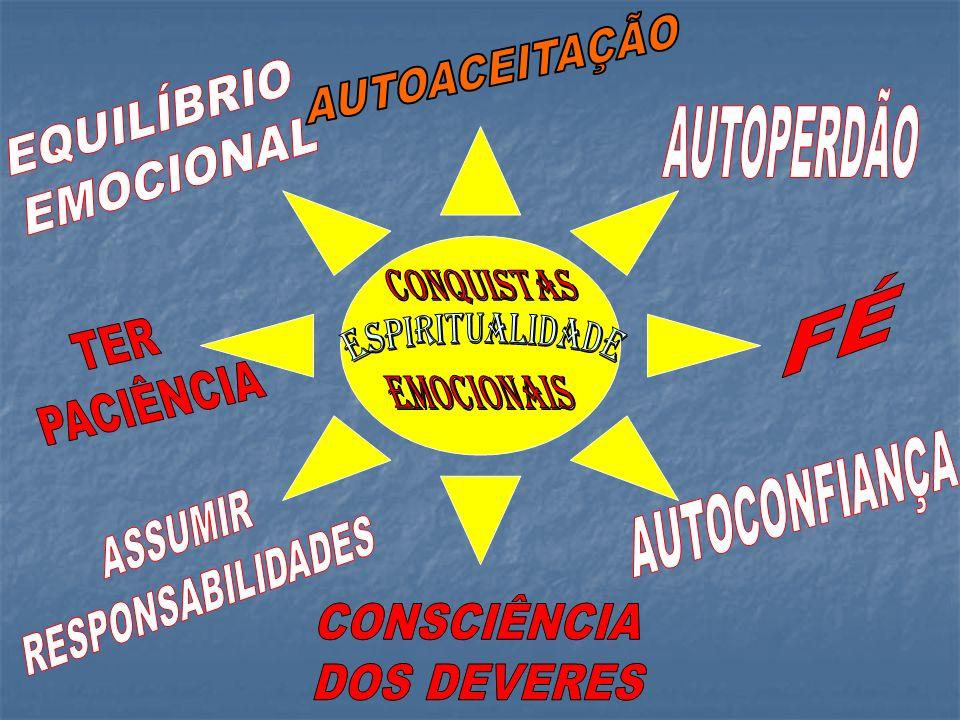 AUTOACEITAÇÃO EQUILÍBRIO AUTOPERDÃO EMOCIONAL FÉ TER PACIÊNCIA