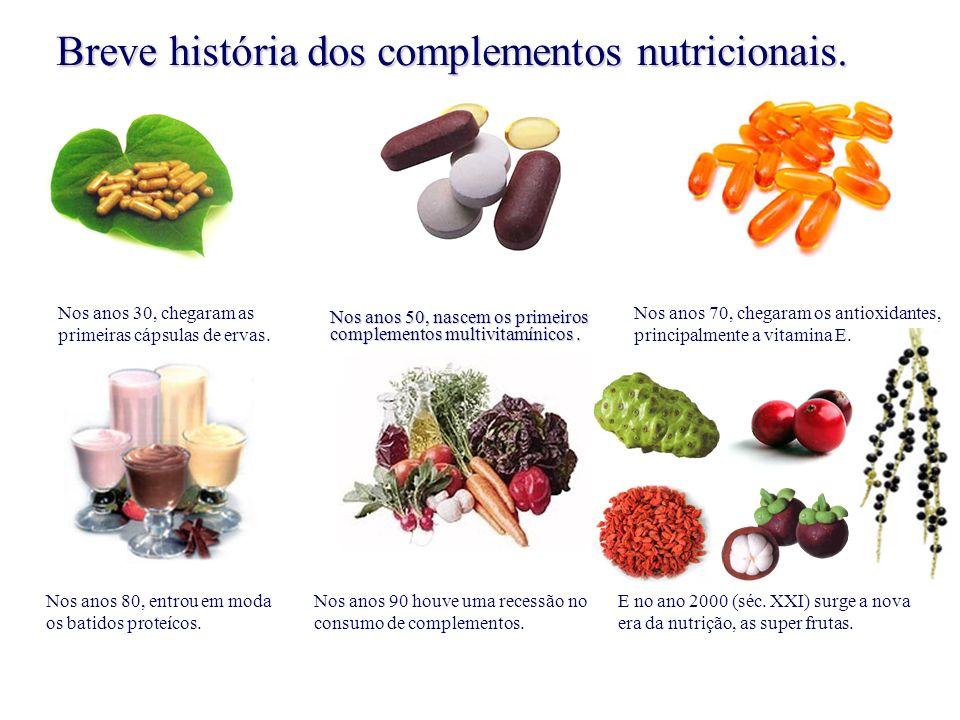 Nos anos 50, nascem os primeiros complementos multivitamínicos .