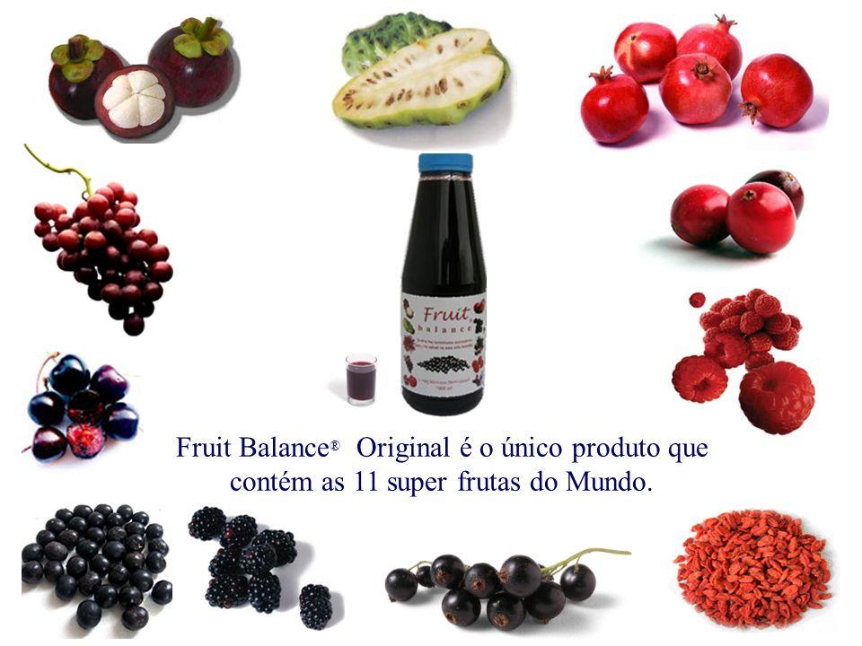 Fruit Balance® Original é o único produto que contém as 11 super frutas do Mundo.
