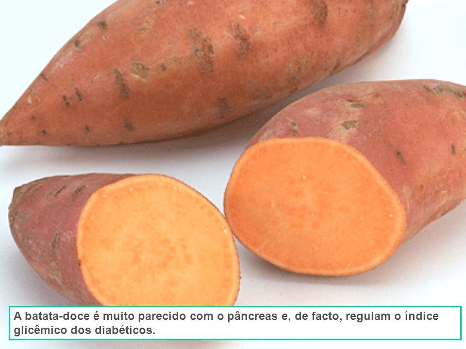 A batata-doce é muito parecido com o pâncreas e, de facto, regulam o índice glicêmico dos diabéticos.