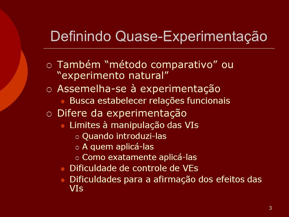 Definindo Quase-Experimentação