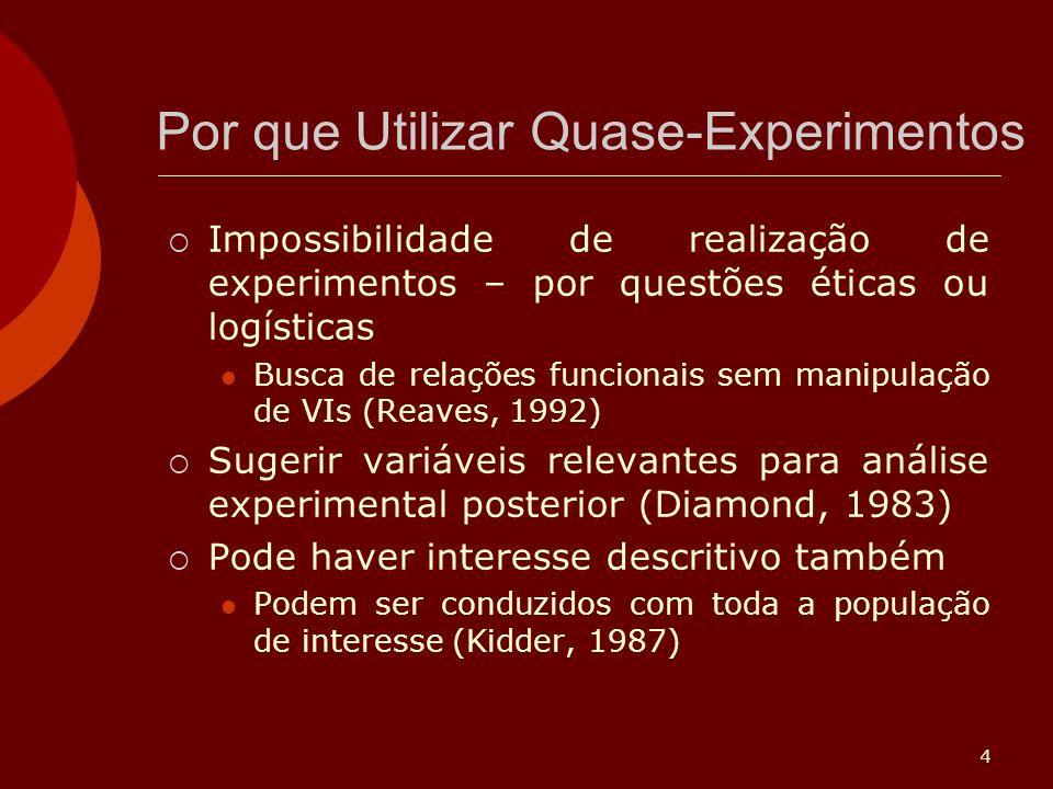 Por que Utilizar Quase-Experimentos