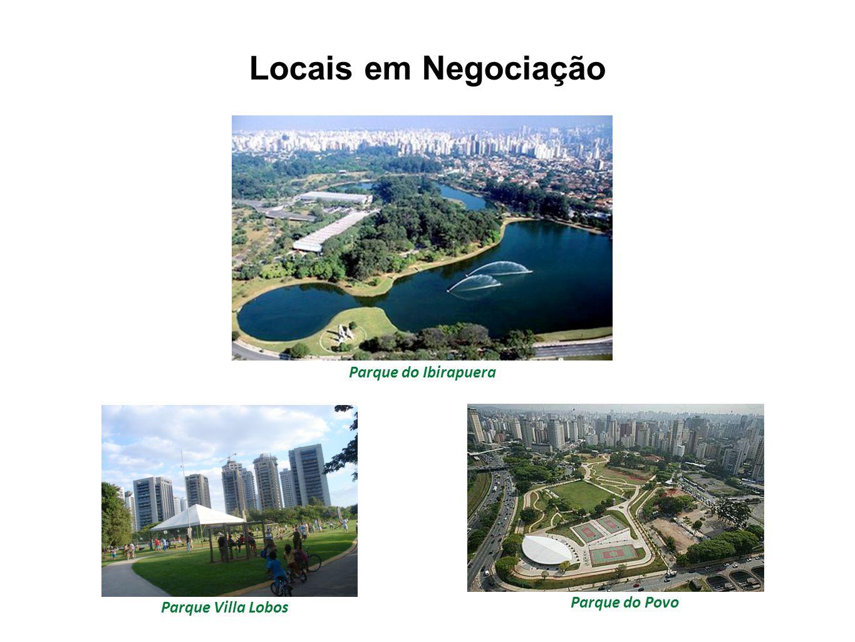 Locais em Negociação Parque do Ibirapuera Parque do Povo
