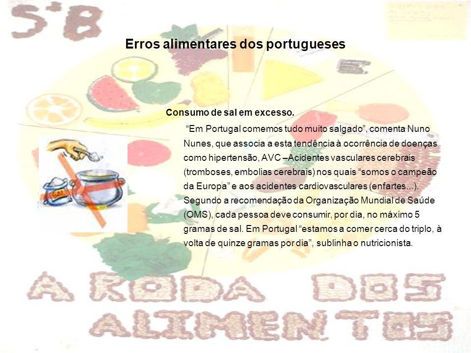 Erros alimentares dos portugueses