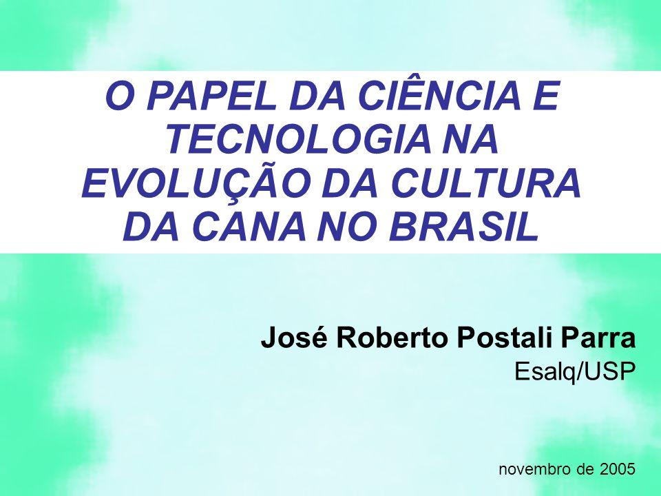 O PAPEL DA CIÊNCIA E TECNOLOGIA NA EVOLUÇÃO DA CULTURA DA CANA NO BRASIL