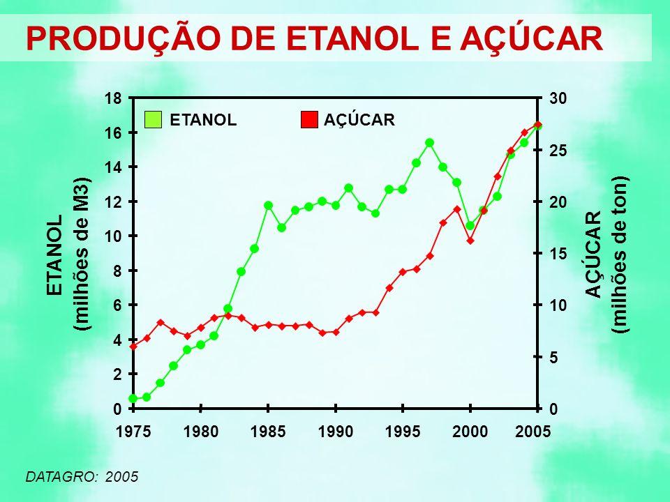 PRODUÇÃO DE ETANOL E AÇÚCAR