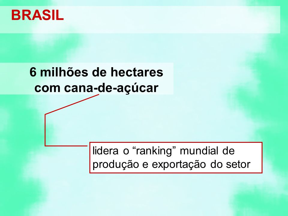 6 milhões de hectares com cana-de-açúcar