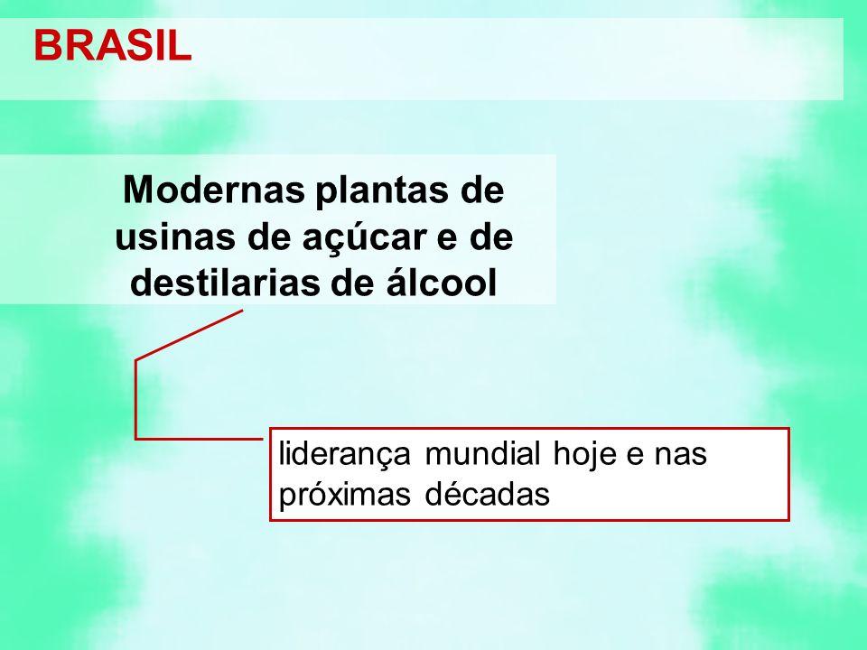 Modernas plantas de usinas de açúcar e de destilarias de álcool
