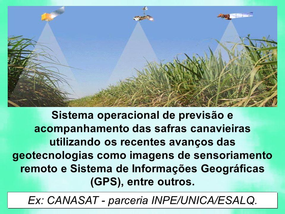Ex: CANASAT - parceria INPE/UNICA/ESALQ.