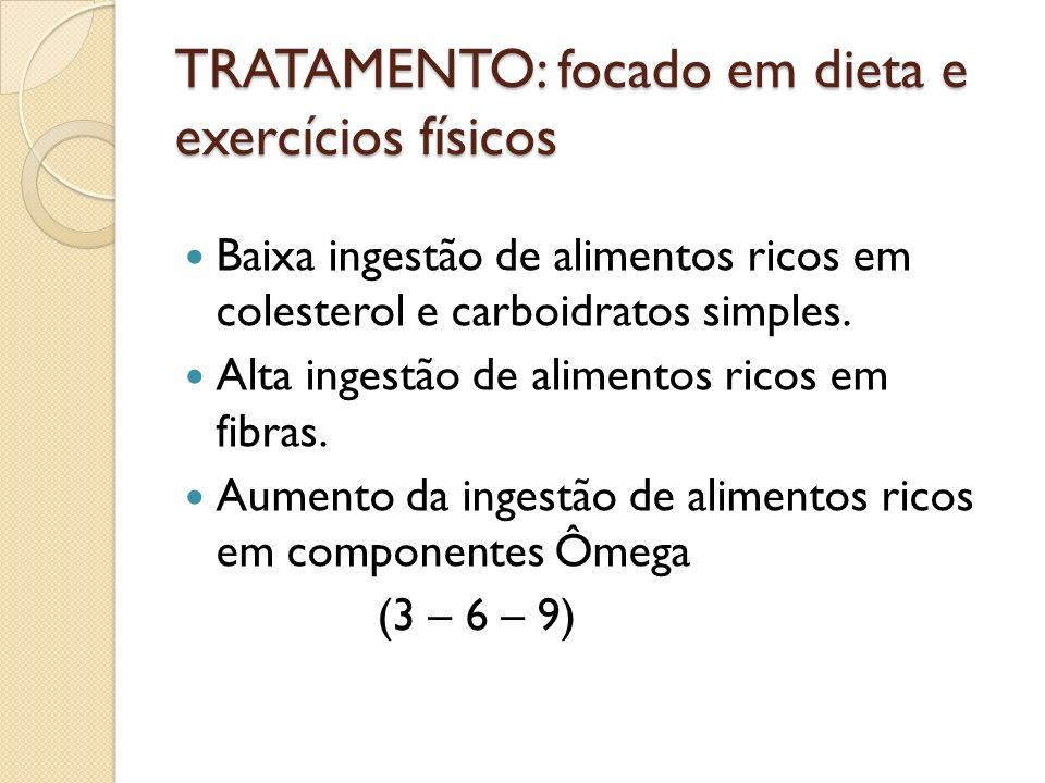 TRATAMENTO: focado em dieta e exercícios físicos