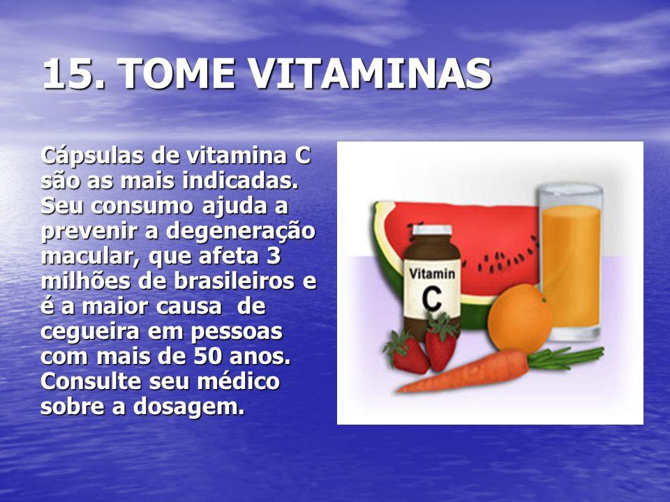 15. TOME VITAMINAS