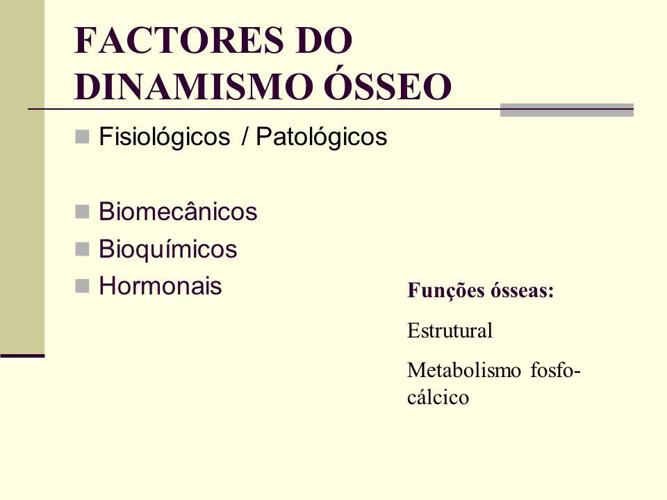 FACTORES DO DINAMISMO ÓSSEO