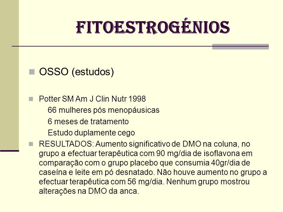 FITOESTROGÉNIOS OSSO (estudos) Potter SM Am J Clin Nutr 1998