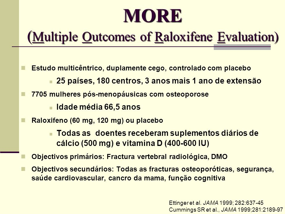 MORE (Multiple Outcomes of Raloxifene Evaluation)