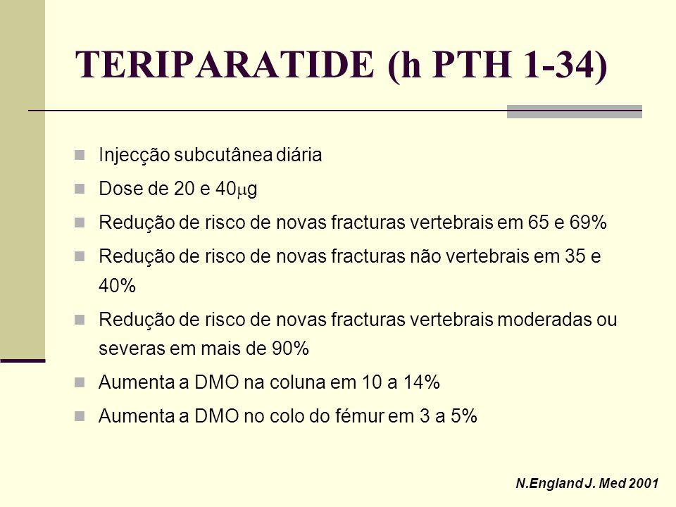 TERIPARATIDE (h PTH 1-34) Injecção subcutânea diária Dose de 20 e 40g