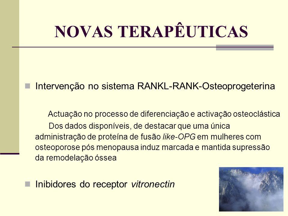 NOVAS TERAPÊUTICAS Intervenção no sistema RANKL-RANK-Osteoprogeterina