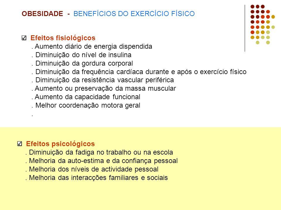OBESIDADE - BENEFÍCIOS DO EXERCÍCIO FÍSICO