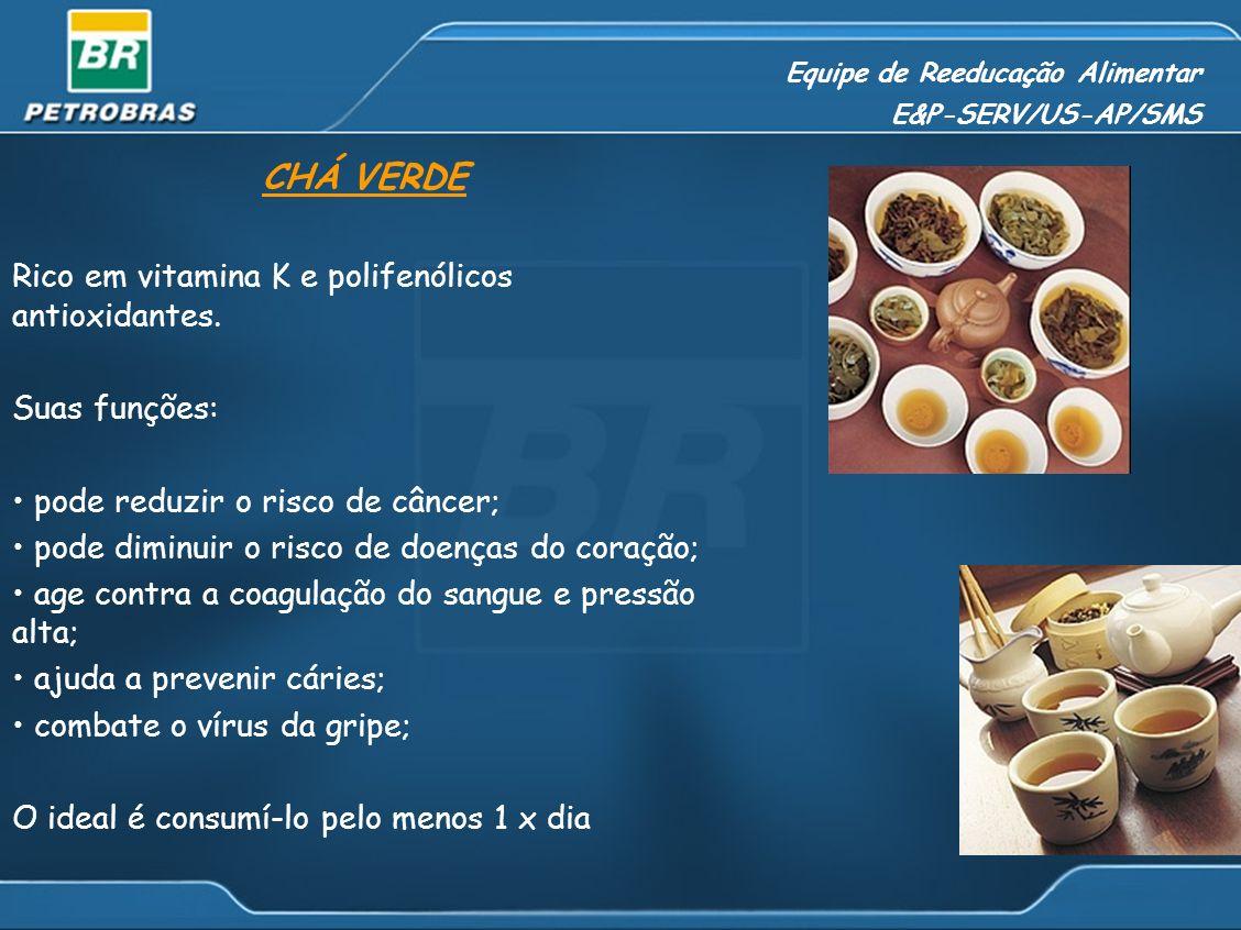 Equipe de Reeducação Alimentar E&P-SERV/US-AP/SMS