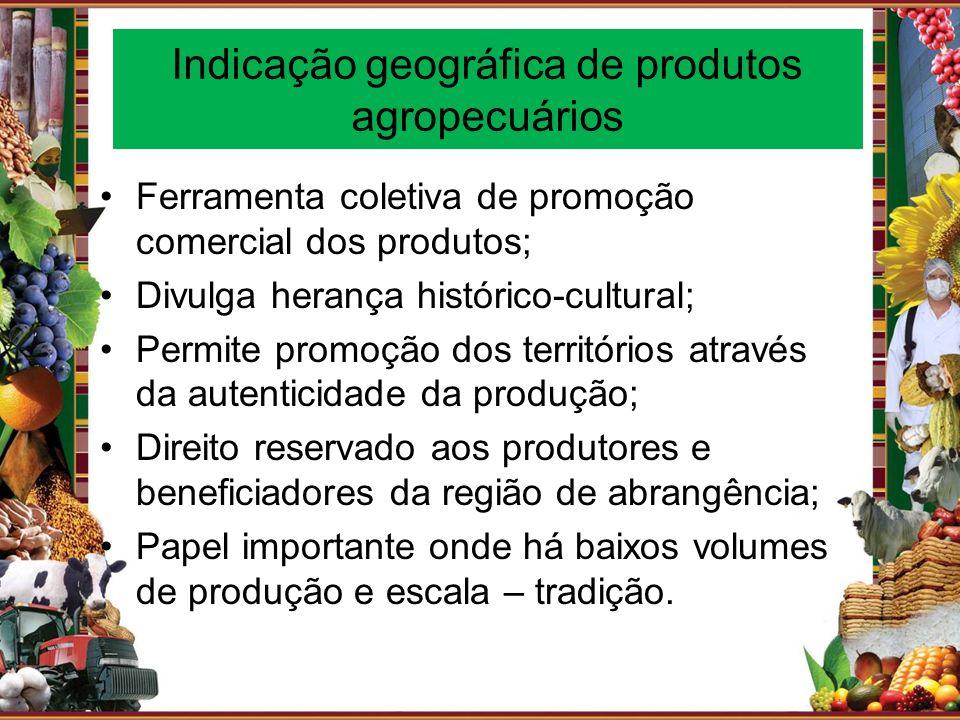 Indicação geográfica de produtos agropecuários