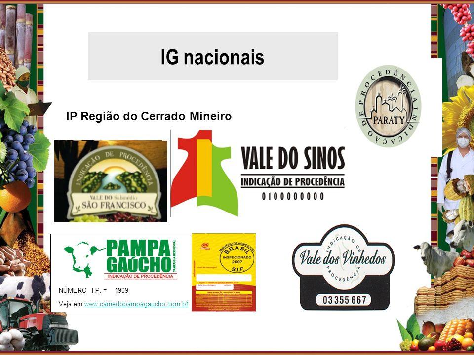 IG nacionais IP Região do Cerrado Mineiro vvvvv NÚMERO I.P. = 1909