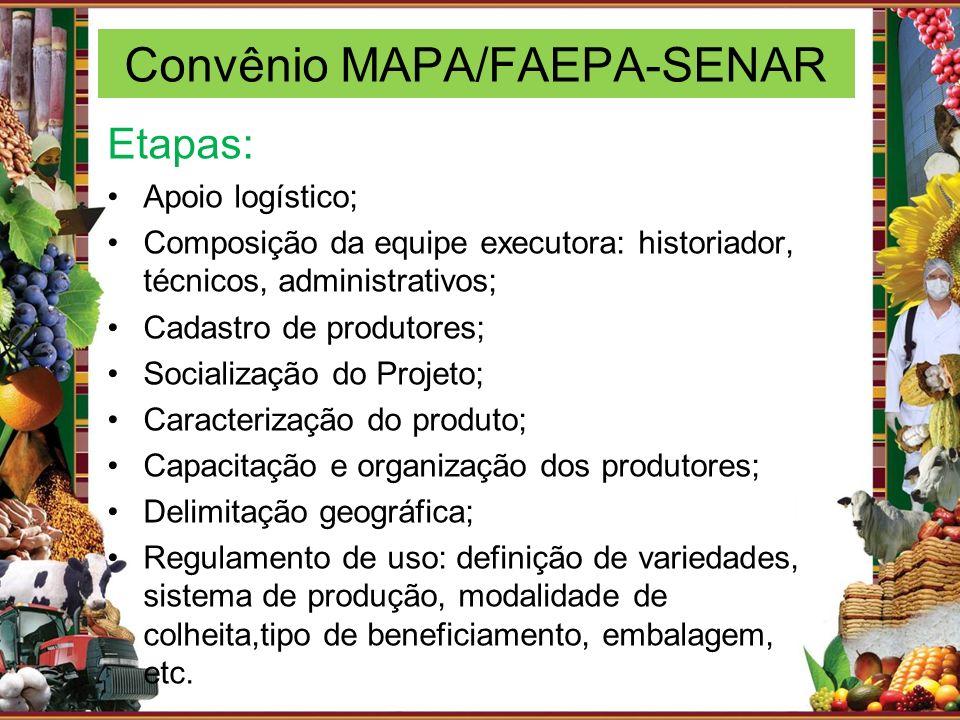 Convênio MAPA/FAEPA-SENAR