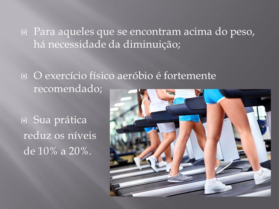 Para aqueles que se encontram acima do peso, há necessidade da diminuição;