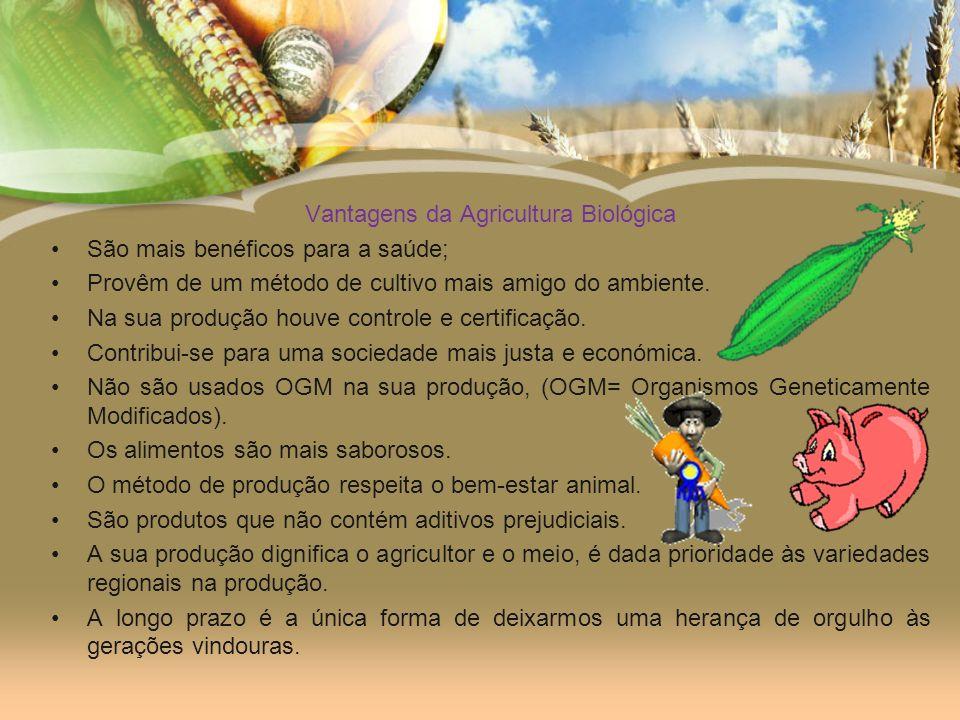 Vantagens da Agricultura Biológica