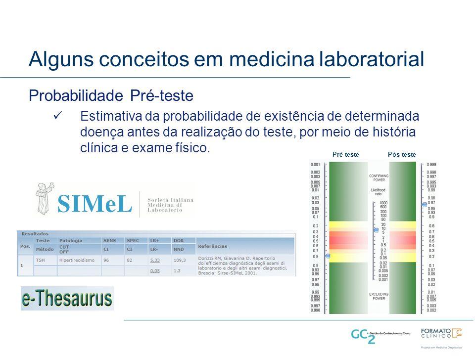 Alguns conceitos em medicina laboratorial