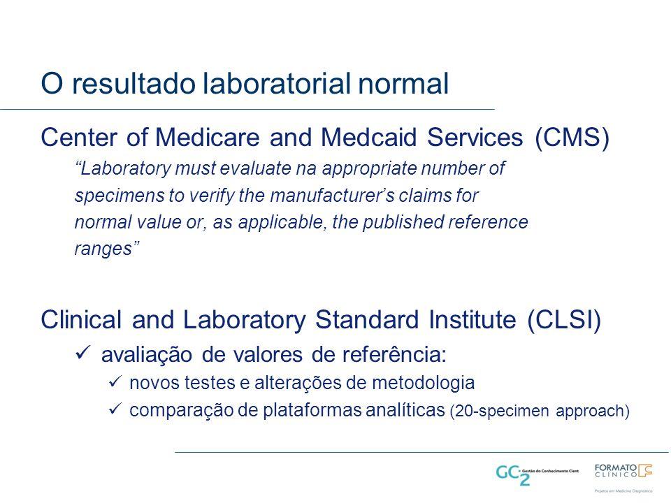 O resultado laboratorial normal