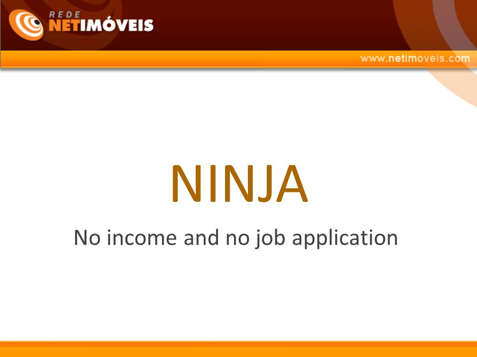 No income and no job application