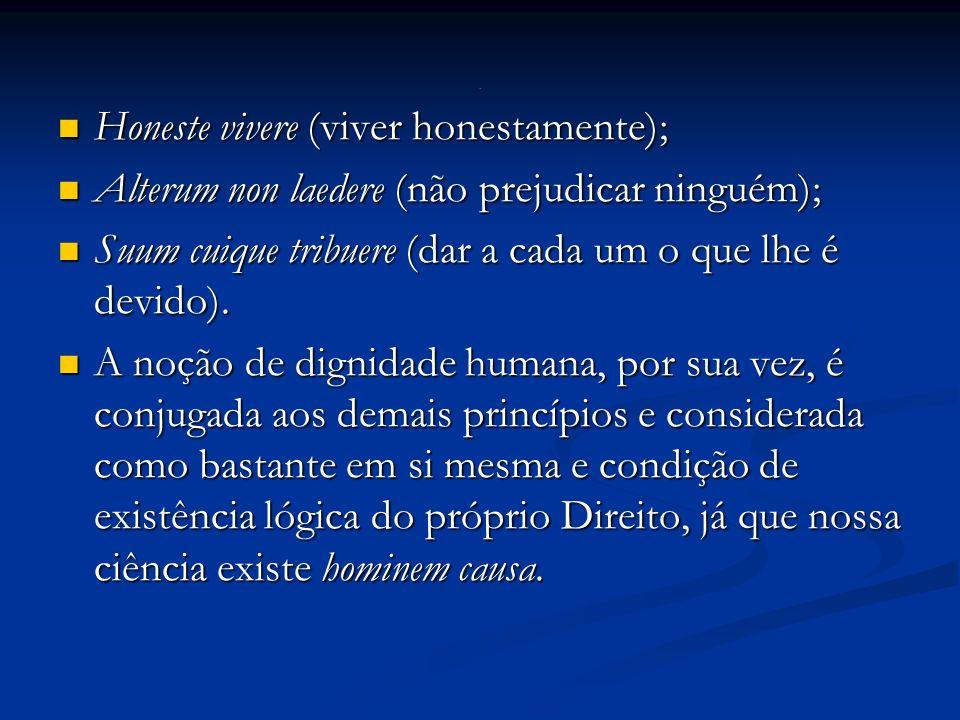 Honeste vivere (viver honestamente);